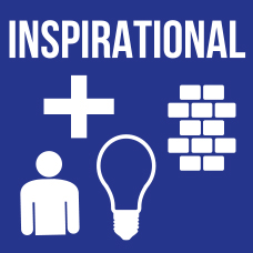 Logo for company value of Inspirational