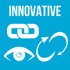 Logo for company value of Innovative