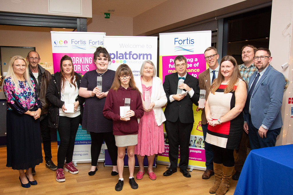 Winners of last year's Fortis Community Awards held at the University of Worcester Arena