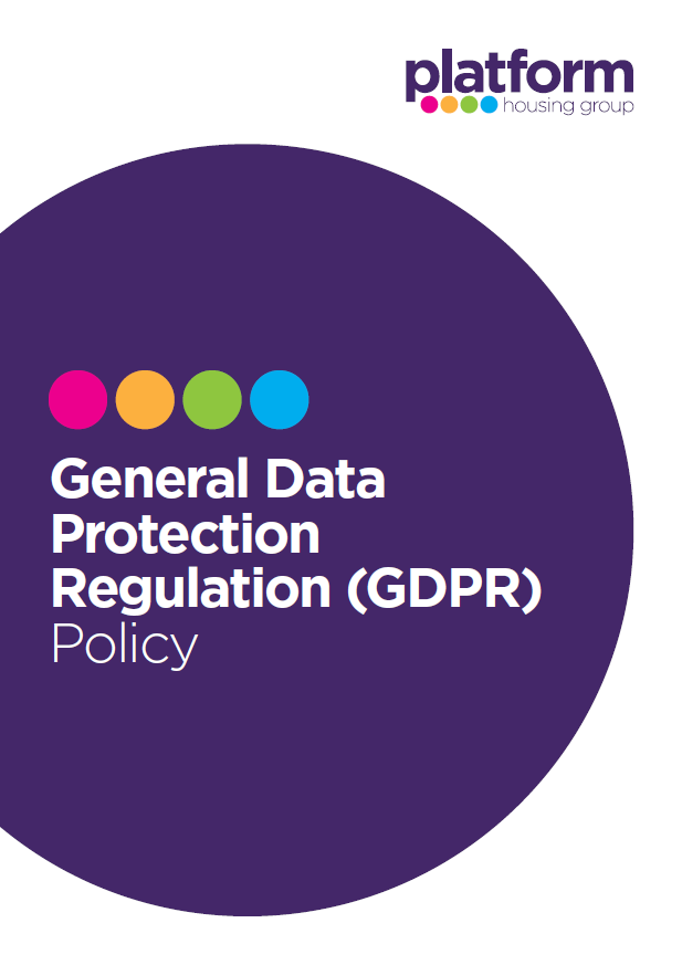 download a copy of our General Data Protection Regulation (GDPR) Policy [pdf] 81KB