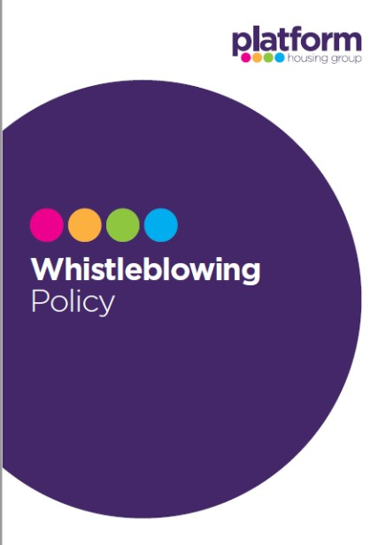 Front Cover Whistleblowing Policy